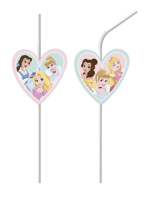 Conjunto de 6 palhinhas Princesas Disney