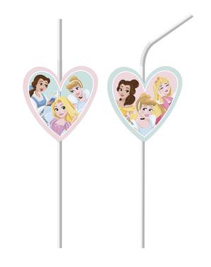 Set med 6 sugrör Disneyprinsessor
