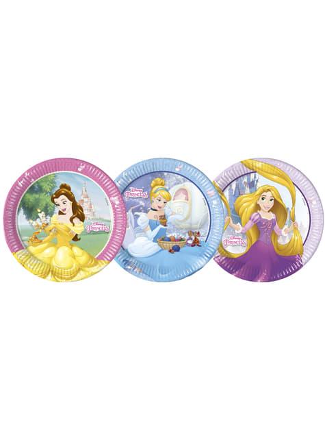 Conjunto de 8 pratos grandes Princesas Disney Heartstrong