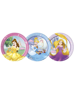 8 big Disney Princesses Heartstrong plates (23 cm)