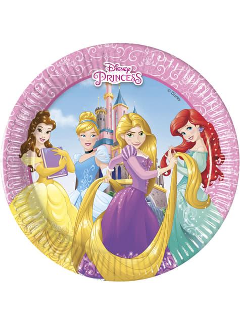 Conjunto de 8 pratos pequenos Princesas Disney Heartstrong