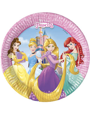 8 small Disney Princesses Heartstrong plates (20 cm)