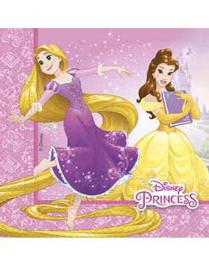 Sæt af 20 Disney Prinsesse Heartstrong servietter