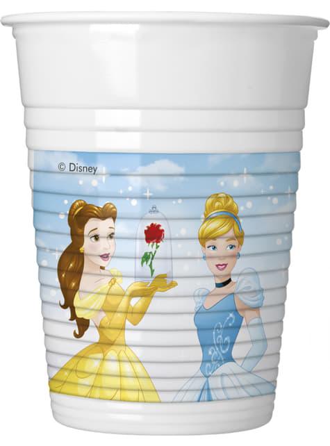 Conjunto de 8 copos Princesas Disney Heartstrong
