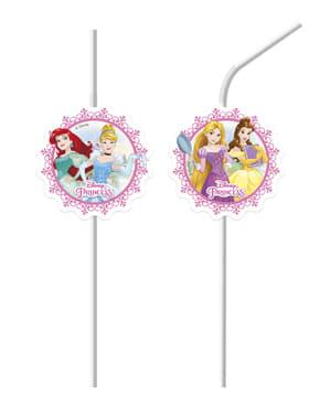 6 Disney Princesses Heartstrong straws