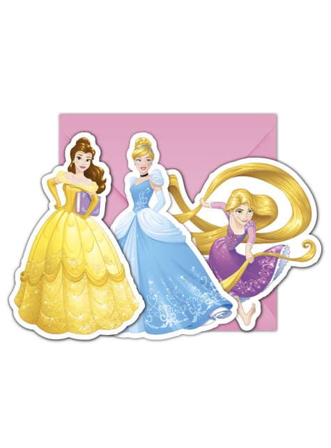 Conjunto de 6 convites Princesas Disney Heartstrong