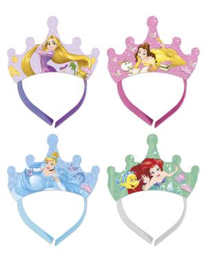 Sett med 4 Disney Hearthstrong Prinsesser tiaraer