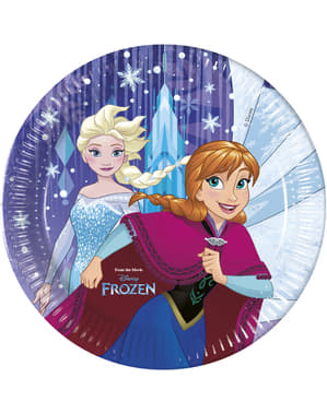 Set of 8 big Frozen plates