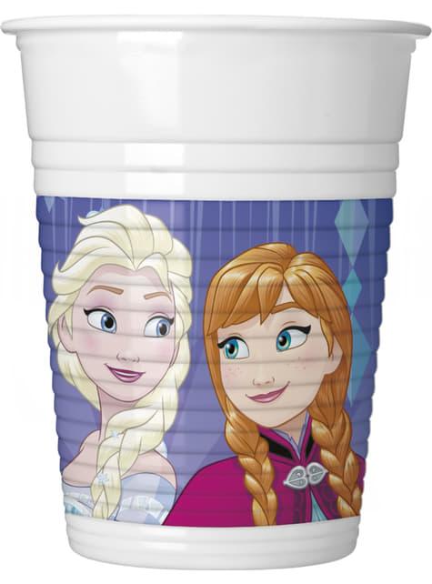 Conjunto de 8 copos Frozen