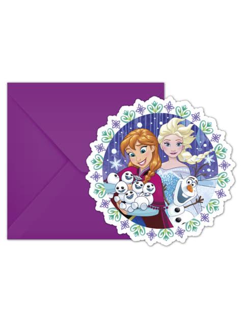 6 invitations La Reine des Neiges