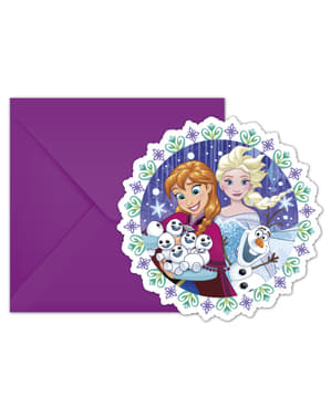 6 invitations La Reine des Neiges