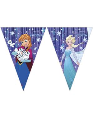 Frozen Wimpel-Girlande mit Dreiecken