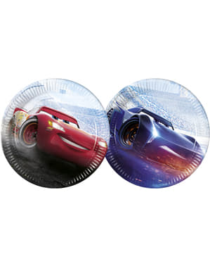 8 big Cars plates (23 cm)
