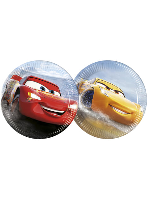 8 platos pequeños Cars (23 cm)