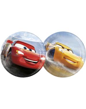 8 small Cars plates (23 cm)