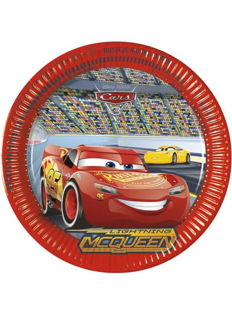 Set of 8 big Cars 3 plates