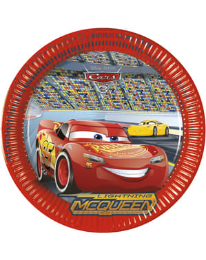 8 grandes assiettes Cars 3