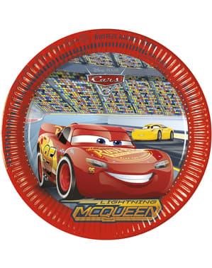 8 big Cars 3 plates (23 cm)