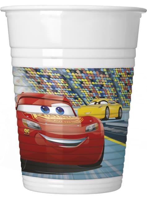 8 vasos Cars 3