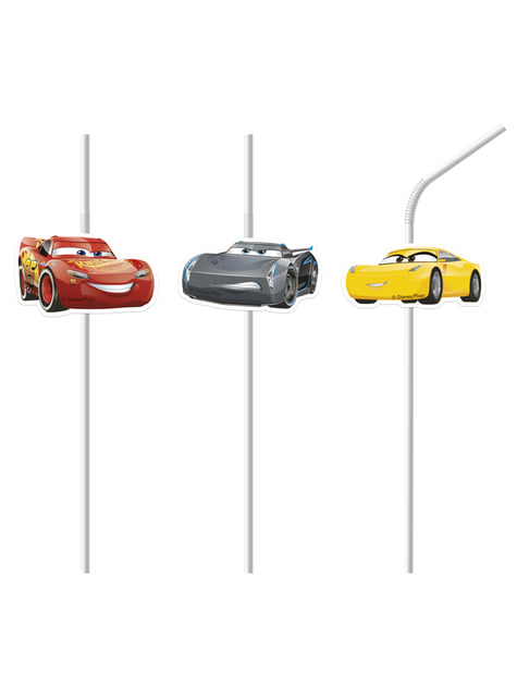 6 pajitas Cars 3