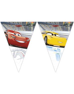 Cars 3 trekants guirlande