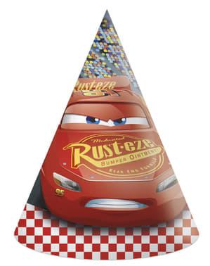 6 gorritos de cumpleaños Cars 3