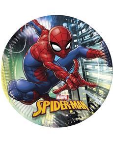 Set de 8 platos grandes Spiderman