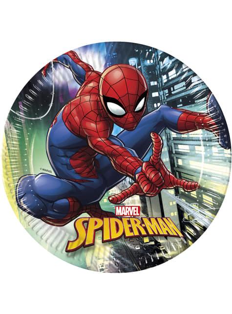 8 big Spiderman plates (23 cm)