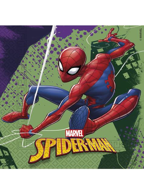 Conjunto de 20 guardanapos Homem-Aranha