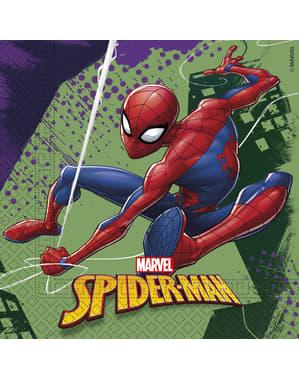 Sett med 20 Spiderman servietter