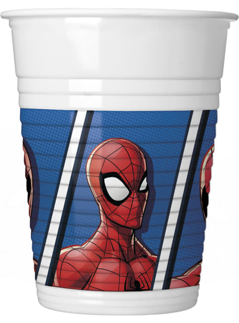 Set de 8 vasos Spiderman