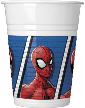 Sæt af 8 spiderman kopper