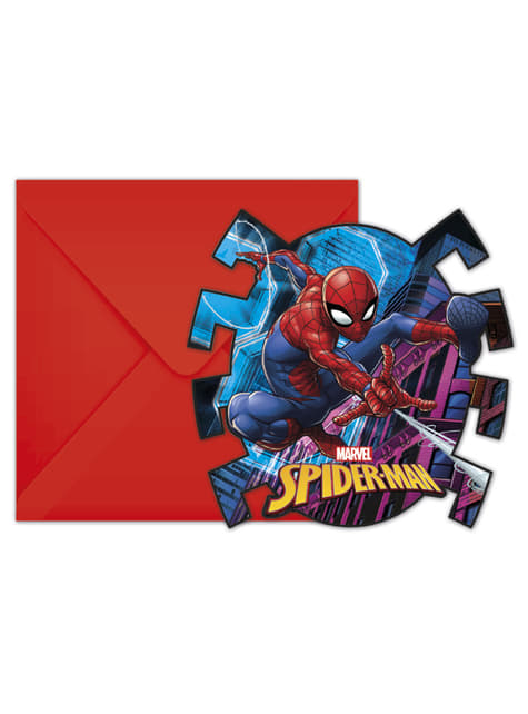 Set de 6 invitaciones Spiderman