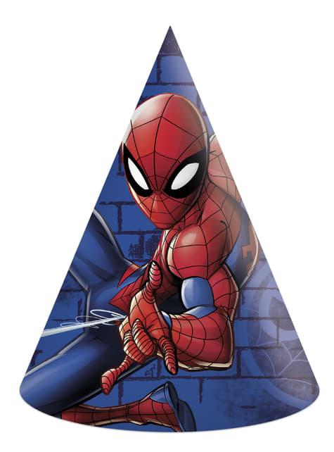 6 gorritos Spiderman