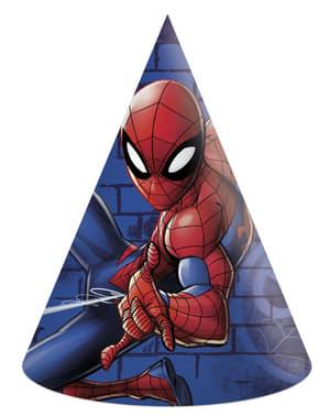 6 gorritos de cumpleaños Spiderman