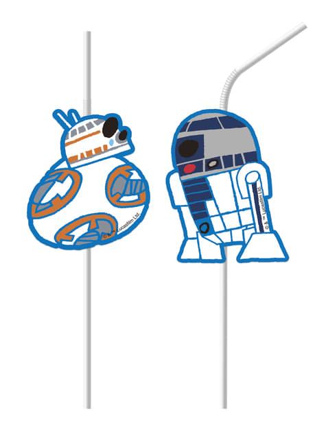 6 pajitas Star Wars