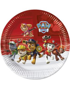 """8 големи чинии с """"Пес патрул""""(23 cm)"""