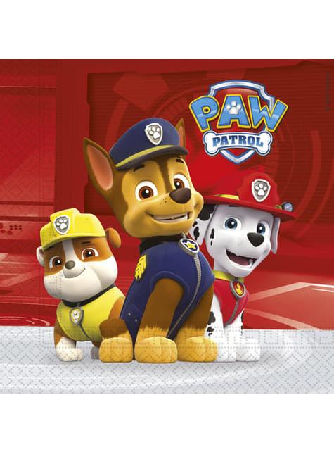 20 czerwone serwetki Psi Patrol