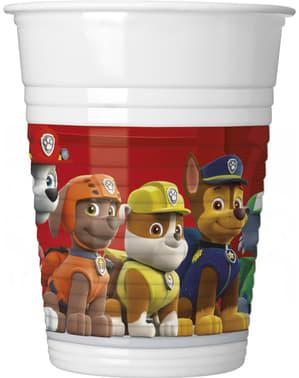 Sett med 8 Paw Patrol plast kopper