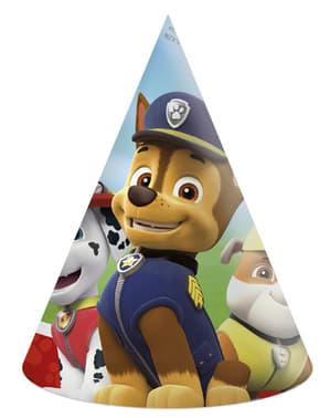 Sæt af 6 små Paw patrol hatte