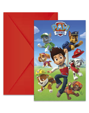 6 Paw Patrol invitations