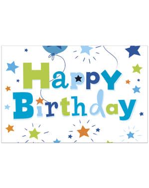 Toalha de Mesa Happy Birthday Boy