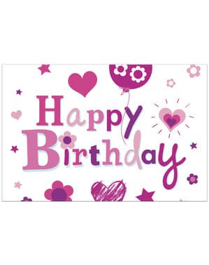 Toalha de Mesa Happy Birthday Girl