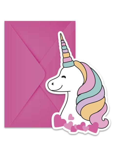 6 invitaciones de unicornio - Magic Party