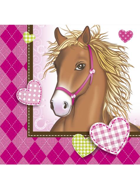 20 Serviettes en papier Horses