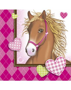 20 Paarden servetten (33x33 cm)