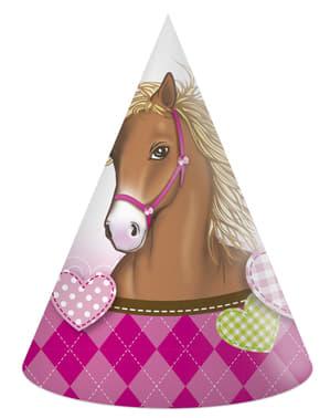 6 gorritos de fiesta Horses
