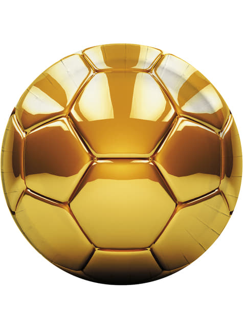 8 platos Football Gold (23 cm)