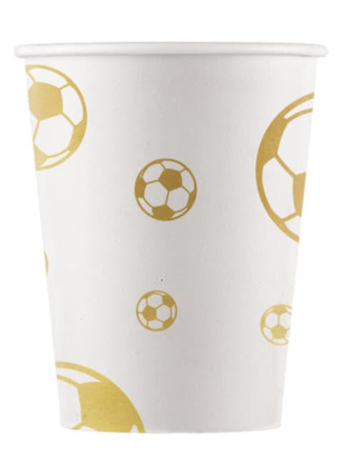 8 vasos papel Football Gold