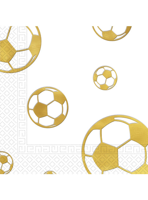 15 servilletas Football Gold (33x33 cm)